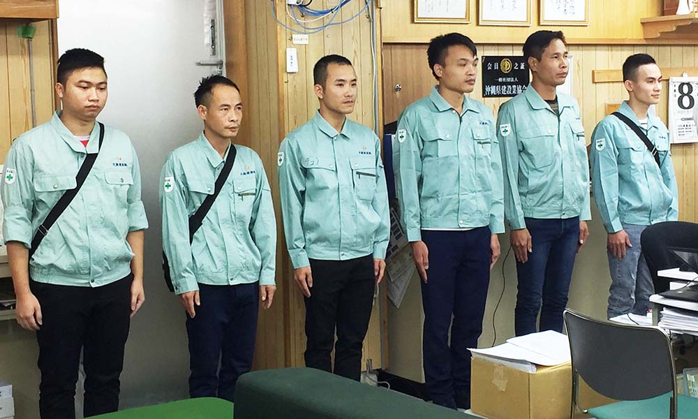 大鏡建設の新メンバー from ベトナム